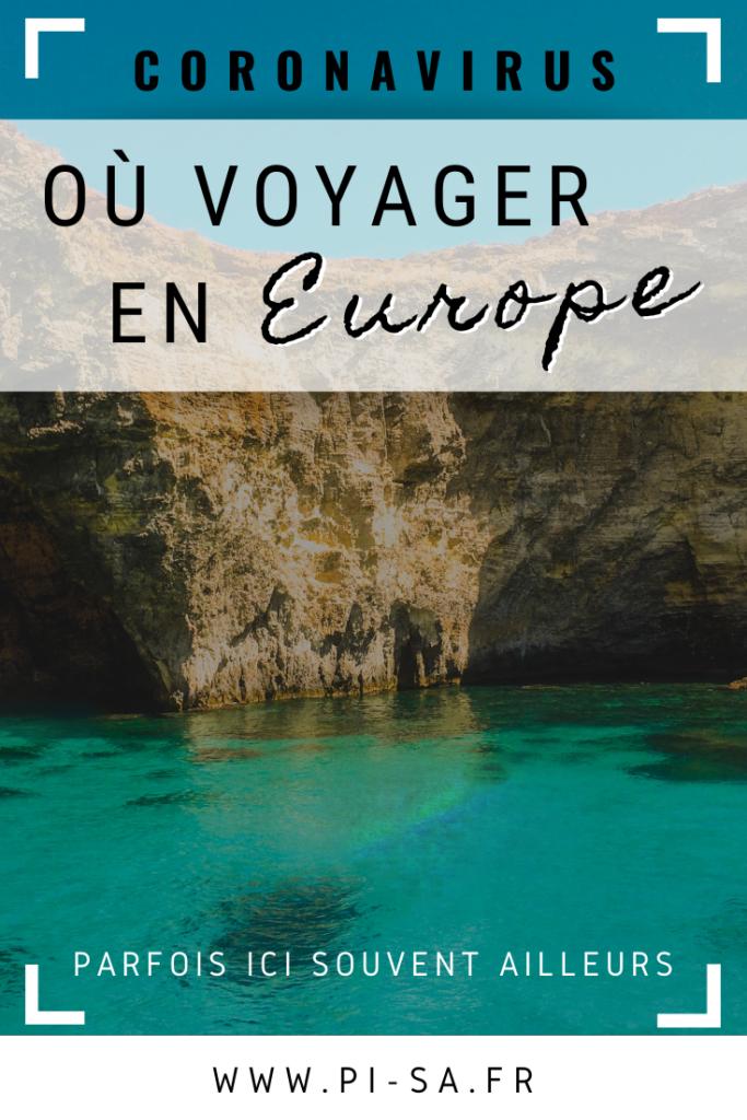 PINTEREST Où voyager en Europe - Coronavirus - Covid 19