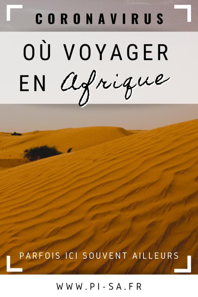 Où voyager en Afrique COVID-19 Pinterest